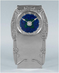 An-Archibald-Knox-Cymric-silver-and-enamel-clock