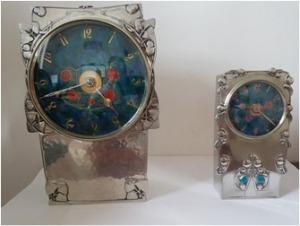 Tudric-pewter-clocks