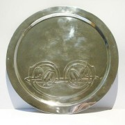 Pewter card tray 0163