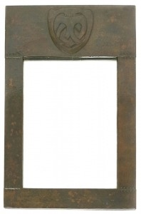 Copper wall mirror 2