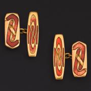 Gold cufflinks 1