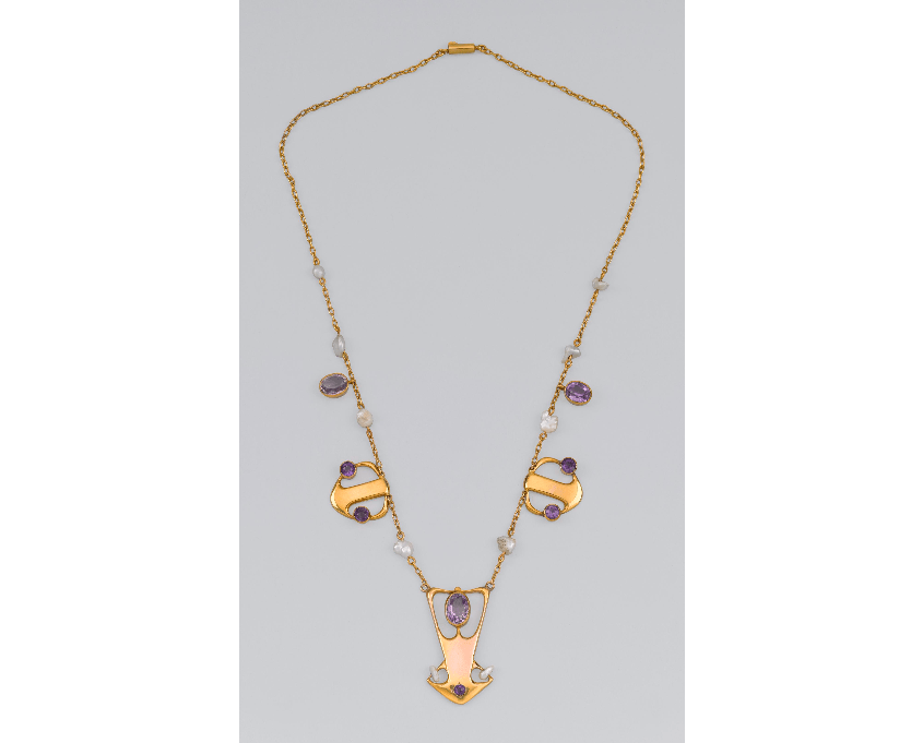 Gold necklace model 8008
