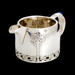 Lapis and silver milk jug 2