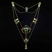 Gold necklace model 8021