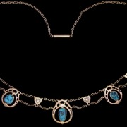 Gold necklace model 8111