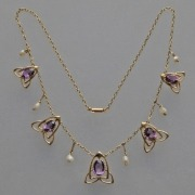 Gold necklace model 8167