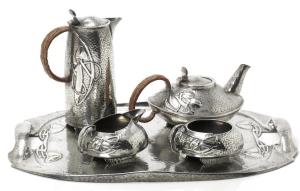 Pewter Coffee Tea set 0231a
