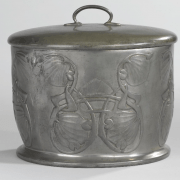 Pewter biscuit barrel 1