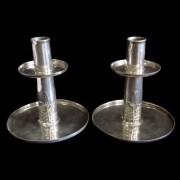 Pewter candlesticks 0218