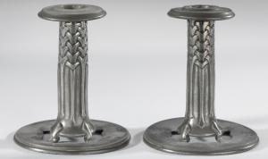 Pewter candlesticks 022
