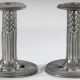 Pewter candlesticks 022
