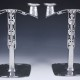 Pewter candlesticks 0530