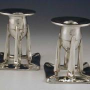 Pewter candlesticks 0222