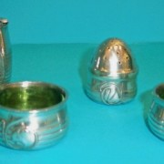 Pewter condiment set 2