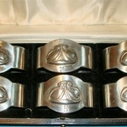 Pewter napkin rings 2