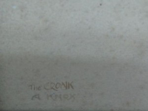 The cronk signed and titled by AK 2