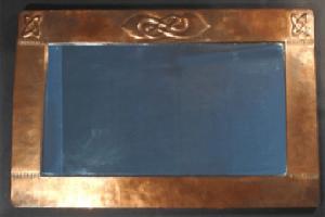 Copper wall mirror 1