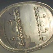 Pewter card tray 0164