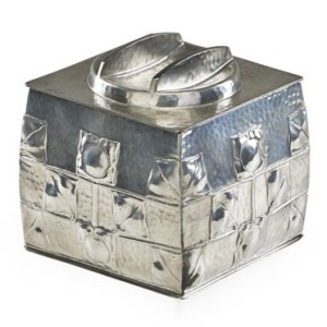 Pewter biscuit barrel 0194