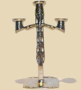 Pewter candlesticks 0530