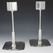 Pewter candlesticks 0725