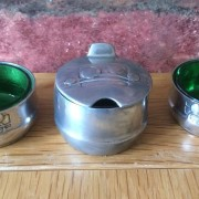 Pewter condiment set 1