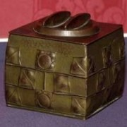 Copper biscuit barrel