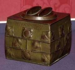 Copper biscuit barrel