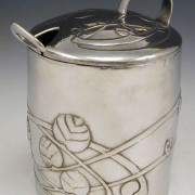 Pewter jam pot 0700