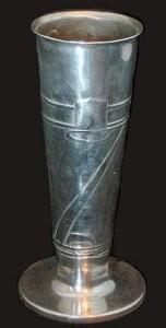 Pewter vase 0356