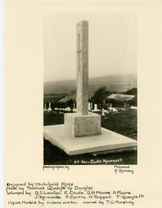Hall caine Memorial in 1930s