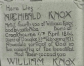 Knox grave in 1930s - Copy