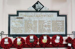 All Saints' Lonan war memorial for the dead